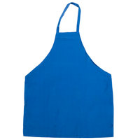 Chef Revival Blue Poly-Cotton Customizable Bib Apron - 34 inchL x 28 inchW