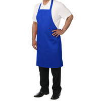 Chef Revival 601NP-RB Customizable Royal Blue Bib Apron - 34 inchL x 28 inchW