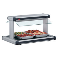 Hatco GR2BW-66 66 inch Glo-Ray Stainless Steel Designer Buffet Warmer with Black Insets - 120/208V, 2920W
