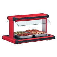Hatco GR2BW-30 30 inch Glo-Ray Warm Red Designer Buffet Warmer with Black Insets - 1230W