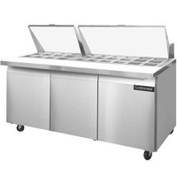 Continental Refrigerator SW72-30M 72 inch 3 Door Mighty Top Refrigerated Sandwich Prep Table