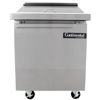 Continental Refrigerator SW27-12M 27 inch 1 Door Mighty Top Refrigerated Sandwich Prep Table