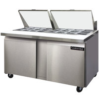 Continental Refrigerator SW60-24M 60 inch 2 Door Mighty Top Refrigerated Sandwich Prep Table