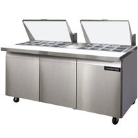 Continental Refrigerator SW72-27M 72 inch 3 Door Mighty Top Refrigerated Sandwich Prep Table