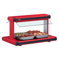 Hatco GR2BW-48 48 inch Glo-Ray Warm Red Designer Buffet Warmer with Warm Red Insets - 2040W