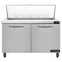 Continental Refrigerator SW48-18M 48 inch 2 Door Mighty Top Refrigerated Sandwich Prep Table