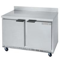Beverage Air WTRF48A-1-SA-B 48 inch Dual Temp Worktop Refrigerator / Freezer - 2 Doors