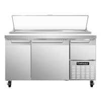 Continental Refrigerator CPA60 60 inch Pizza Prep Table with Two Full Doors and One Half Door