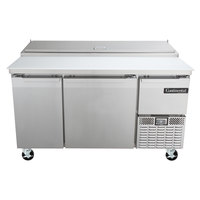 Continental Refrigerator CPA60 60 inch Customizable Pizza Prep Table with Two Full Doors and One Half Door