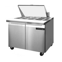 Continental Refrigerator SW36-12M 36 inch 2 Door Mighty Top Refrigerated Sandwich Prep Table