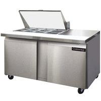 Continental Refrigerator SW60-12M 60 inch 2 Door Mighty Top Refrigerated Sandwich Prep Table