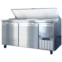 Continental Refrigerator CPA68 68 inch Pizza Prep Table with Two Full Doors and One Half Door