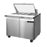 Continental Refrigerator SW36-15M 36 inch 2 Door Mighty Top Refrigerated Sandwich Prep Table