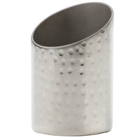 American Metalcraft HMSRSPH2 Round Angled Hammered Stainless Steel Sugar Caddy - 2 inch x 2 3/4 inch