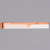 Taylor 8767J TempRite Single Use Dishwasher 180 Degrees F Test Strip - 25/Pack