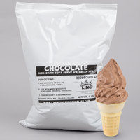Carnival King Non-Dairy Chocolate Soft Serve Ice Cream Mix 6 lb. Bag   - 6/Case