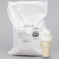 Carnival King Non-Dairy Vanilla Soft Serve Ice Cream Mix 6 lb. Bag - 6/Case