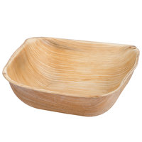 Eco-gecko 5 inch Square Sustainable Palm Leaf Bowl   - 100/Case