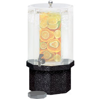 Cal-Mil C972-3B-17 Octagonal Granite Charcoal Acrylic Replacement Base for 1.5 and 3 Gallon Classic Beverage Dispensers