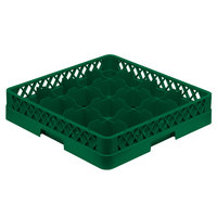 Vollrath TR4A Traex Full-Size Green 16-Compartment 4 13/16 inch Cup Rack with Open Rack Extender On Top