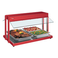 Hatco GRBW-66 66 inch Glo-Ray Warm Red Buffet Warmer with Toggle Controls - 2860W