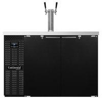 Continental Refrigerator KC50 Double Tap Kegerator Beer Dispenser - Black, (2) 1/2 Keg Capacity