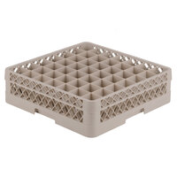 Vollrath TR9A Traex Full-Size Beige 49-Compartment 4 13/16 inch Glass Rack with Open Rack Extender On Top