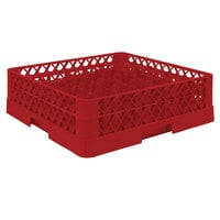 Vollrath TR9A Traex® Full-Size Red 49-Compartment 4 13/16 inch Glass Rack with Open Rack Extender On Top