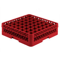 Vollrath TR9A Traex Full-Size Red 49-Compartment 4 13/16 inch Glass Rack with Open Rack Extender On Top