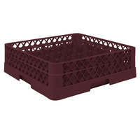 Vollrath TR9A Traex® Full-Size Burgundy 49-Compartment 4 13/16 inch Glass Rack with Open Rack Extender On Top