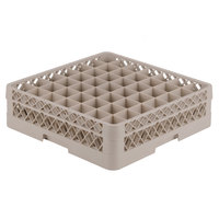 Vollrath TR9E Traex® Full-Size Beige 49-Compartment 4 13/16 inch Glass Rack