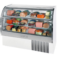 Beverage Air CDR5/1-W-20 White Exterior Curved Glass Refrigerated Bakery Display Case 61 inch - 22.9 Cu. Ft.
