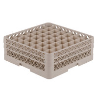 Vollrath TR9EE Traex® Full-Size Beige 49-Compartment 6 3/8 inch Glass Rack