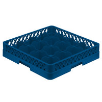 Vollrath TR4A Traex® Full-Size Royal Blue 16-Compartment 4 13/16 inch Cup Rack with Open Rack Extender On Top