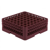 Vollrath TR9EE Traex® Full-Size Burgundy 49-Compartment 6 3/8 inch Glass Rack