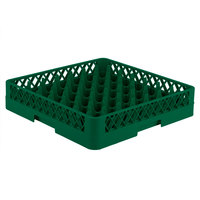 Vollrath TR9 Traex Full-Size Green 49-Compartment 3 1/4 inch Glass Rack