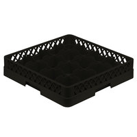 Vollrath TR4A Traex® Full-Size Black 16-Compartment 4 13/16 inch Cup Rack with Open Rack Extender On Top