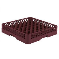 Vollrath TR9 Traex® Full-Size Burgundy 49-Compartment 3 1/4 inch Glass Rack
