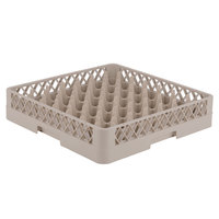 Vollrath TR9 Traex® Full-Size Beige 49-Compartment 3 1/4 inch Glass Rack