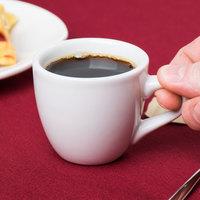 Tuxton ALF-035 Alaska 3.5 oz. Bright White Espresso China Cup - 36/Case