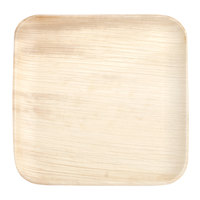 Eco-gecko Sustainable 8 inch Square Palm Leaf Plate - 25/Pack
