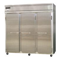 Continental Refrigerator 3RS-HD 78 inch Solid Half Door Shallow Depth Reach-In Refrigerator