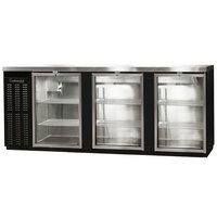 Continental Refrigerator BBC90-GD 90 inch Glass Door Back Bar Refrigerator