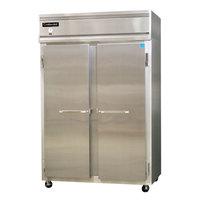 Continental Refrigerator 2RS-HD 52 inch Solid Half Door Shallow Depth Reach-In Refrigerator