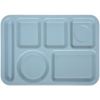 Carlisle 4398059 10 inch x 14 inch Slate Blue Heavy Weight Melamine Left Hand 6 Compartment Tray