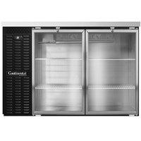 Continental Refrigerator BB50NGD 50 inch Glass Door Back Bar Refrigerator