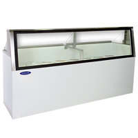 Nor-Lake HF230-WWG/0L Nova 91 inch Low Glass Ice Cream Dipping Cabinet