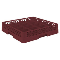 Vollrath TR5 Traex® Full-Size Burgundy 20-Compartment 3 inch Cup Rack