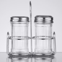 American Metalcraft MGLCS Mini Glass Shakers and Caddy