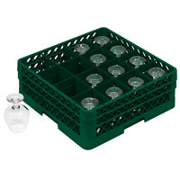 Vollrath TR4DDD Traex Full-Size Green 16-Compartment 7 7/8 inch Cup Rack